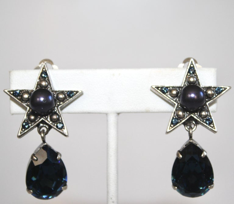 Philippe Ferrandis for Jacques Fath Star Clip Earrings In New Condition For Sale In Virginia Beach, VA