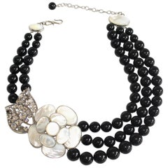 Philippe Ferrandis Glass Pearl and Mother of Pearl Necklace