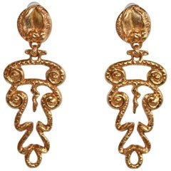 Philippe Ferrandis Grecian Inspired Clip Earrings