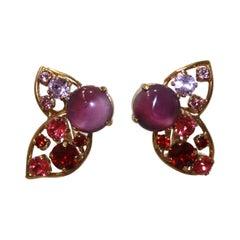 Philippe Ferrandis Half Butterfly Clip Earrings