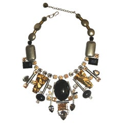 Philippe Ferrandis Handmade Glass and Pyrite Necklace