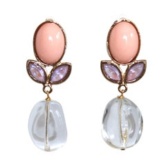 Philippe Ferrandis Mini Love Clip Earrings