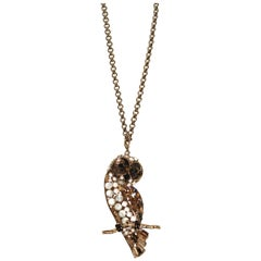 Philippe Ferrandis Owl Pendant on Chain