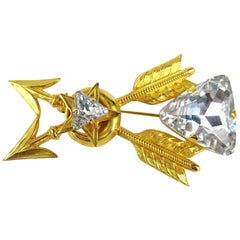 Philippe ferrandis Swarovski Crystal Brooch / Pin New, Never Worn 1990s
