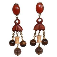 Philippe Ferrandis Tribal Drop Earrings