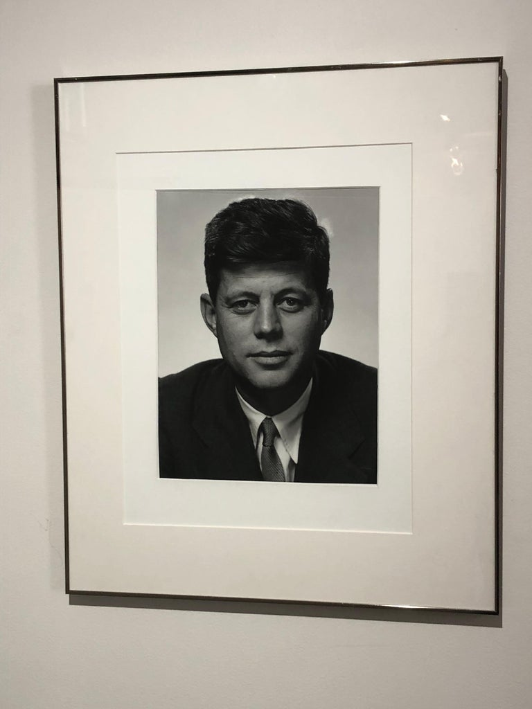 Philippe Halsman John F Kennedy Silver Gelatin In Excellent Condition For Sale In Westport, CT