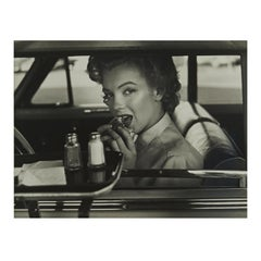 Marilyn Monroe By Philippe Halsman, Marilyn at the Drive-in - Landscape