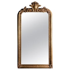 Philippe Hand Carved Beveled Mirror in Hand Gilt Frame 'Pair Available'