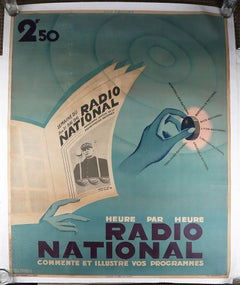 Radio National - French Advertising Poster