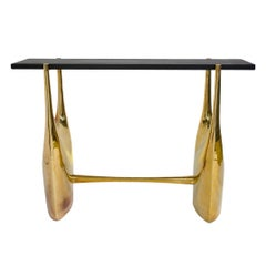 Philippe Hiquily Black Stone Console Table