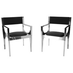 "Philippe Hiquily ""Pair of 'Robert Hass'"" Armchairs"