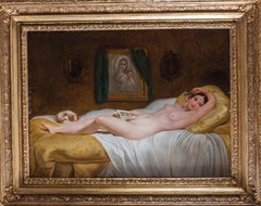 A large 19th Century French oil painting of a nude by Philippe-Jacues Van Bree
