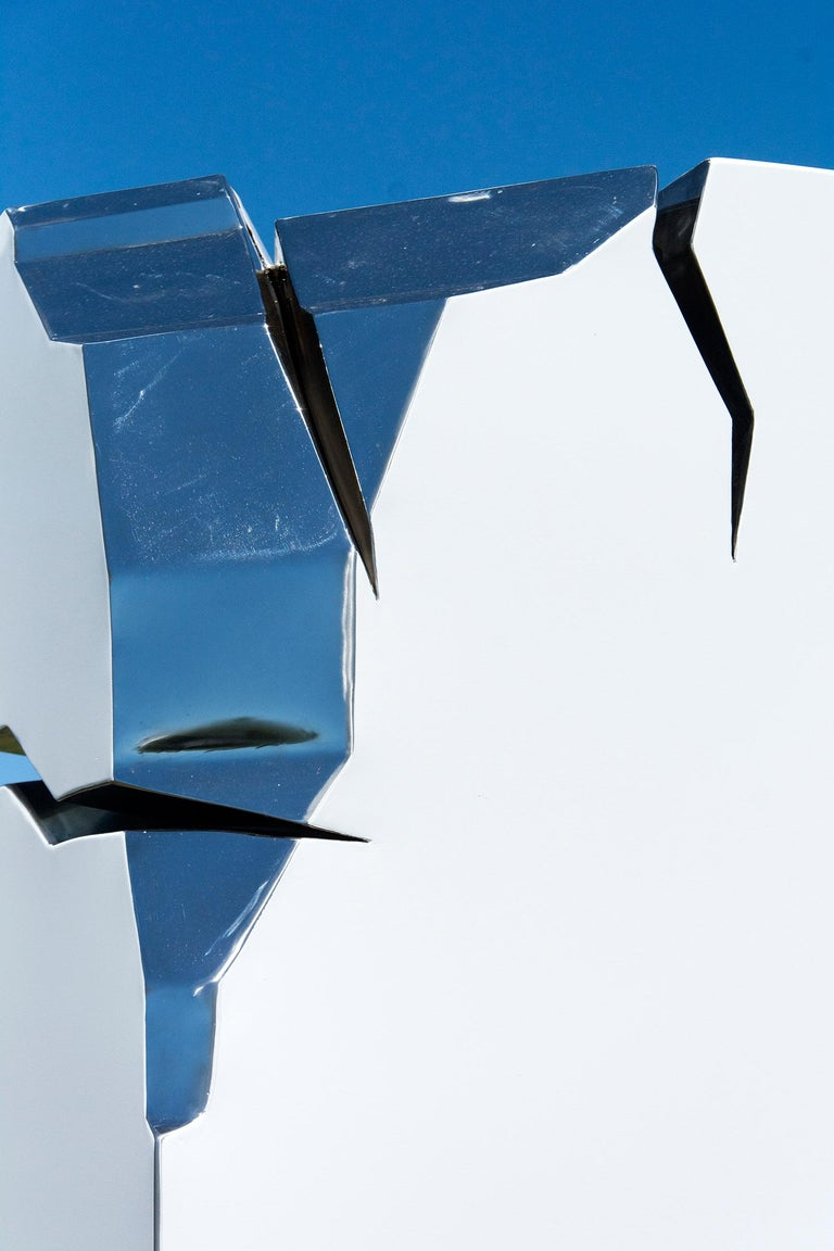 Athabasca - Blue Abstract Sculpture by Philippe Pallafray