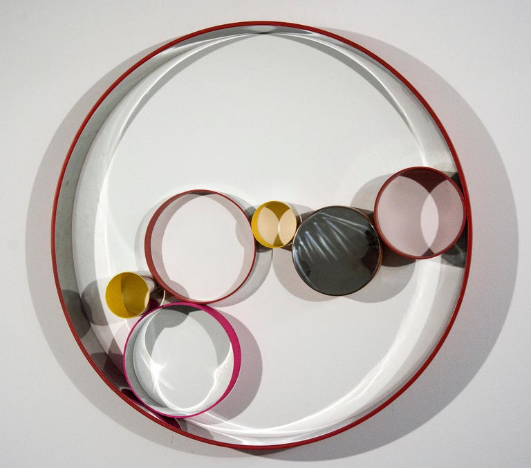 Philippe Pallafray Abstract Sculpture - Seven Ring Wall Temps Zero