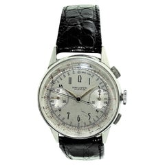Philippe Stainless Steel Art Deco Chronograph Manual Watch, 1930s
