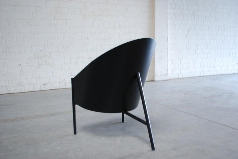 Philippe Starck Black Chair Armchair Driade Aleph Model Pratfall For Sale 3