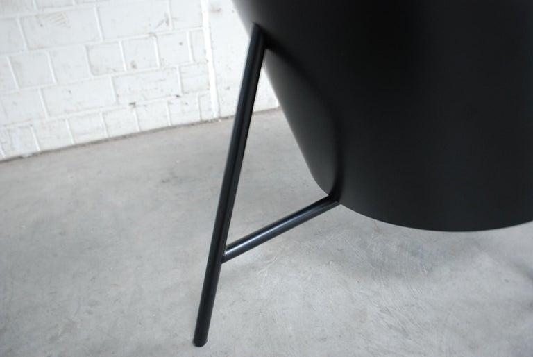 Philippe Starck Black Chair Armchair Driade Aleph Model Pratfall For Sale 6