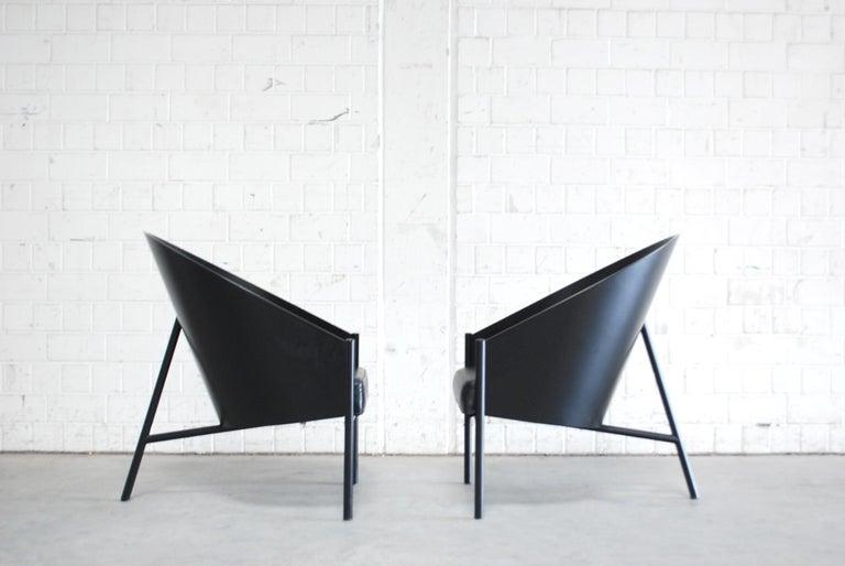 Philippe Starck Black Chair Armchair Driade Aleph Model Pratfall For Sale 7