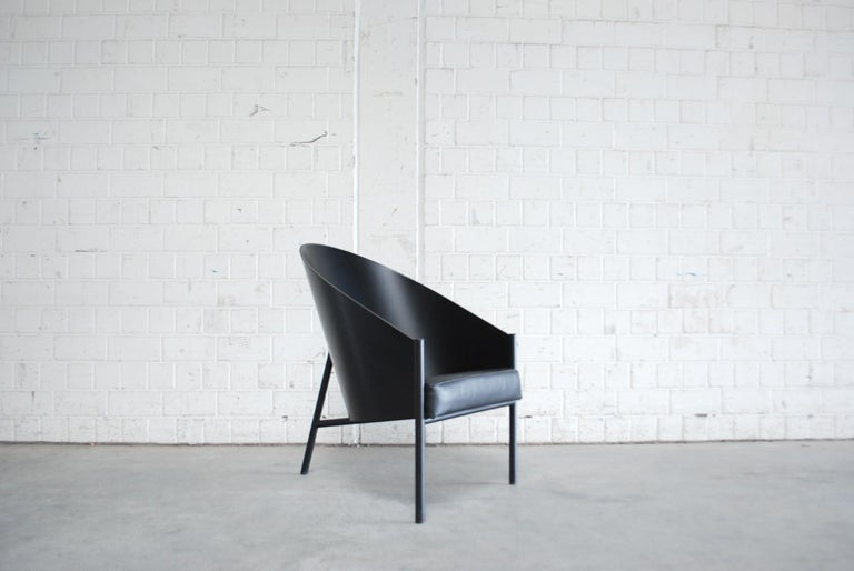 Modern Philippe Starck Black Chair Armchair Driade Aleph Model Pratfall For Sale