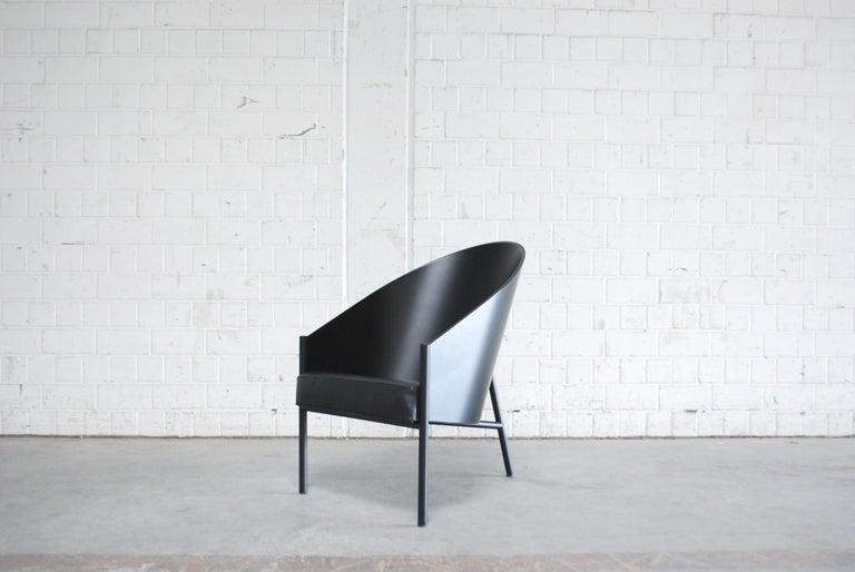 Italian Philippe Starck Black Chair Armchair Driade Aleph Model Pratfall For Sale