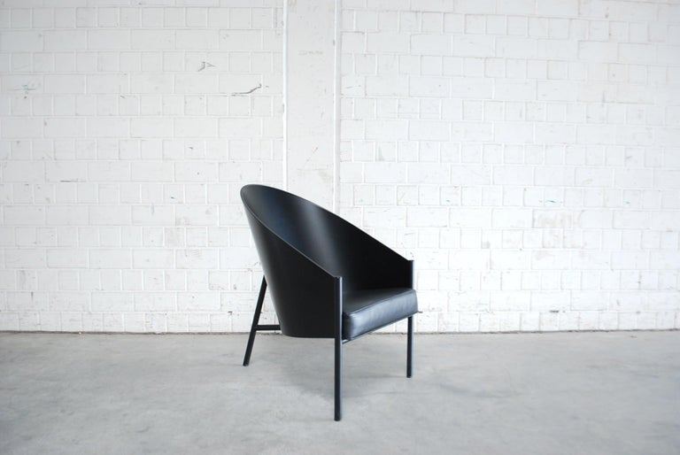 Philippe Starck Black Chair Armchair Driade Aleph Model Pratfall In Good Condition For Sale In Munich, Bavaria