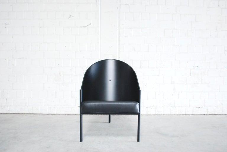 Late 20th Century Philippe Starck Black Chair Armchair Driade Aleph Model Pratfall For Sale