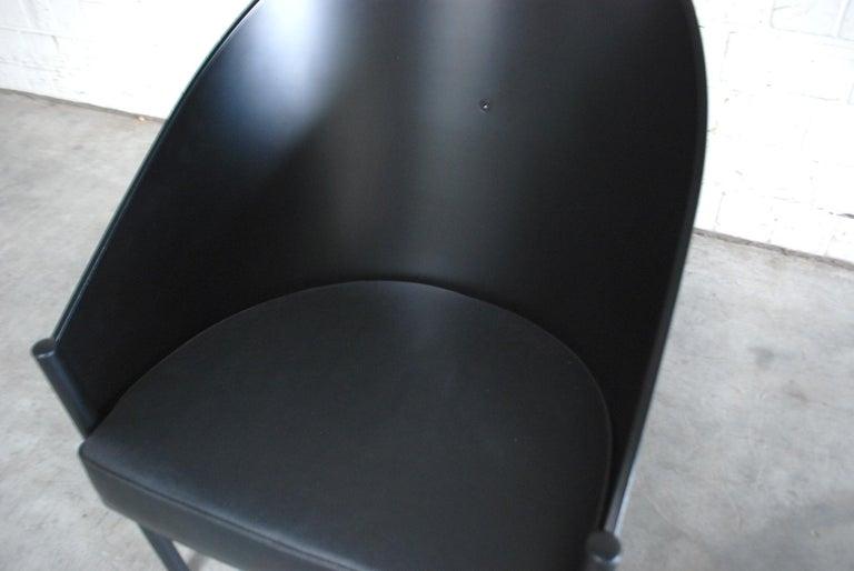 Steel Philippe Starck Black Chair Armchair Driade Aleph Model Pratfall For Sale