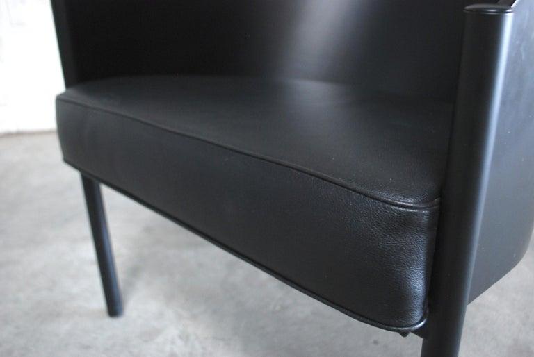 Philippe Starck Black Chair Armchair Driade Aleph Model Pratfall For Sale 1