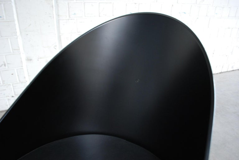 Philippe Starck Black Chair Armchair Driade Aleph Model Pratfall For Sale 2