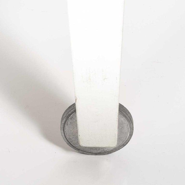 Italian Philippe Starck Delano Carrara Marble White Coffee Table, Casters, Postmodern For Sale