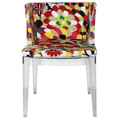 Philippe Starck Designed Cool Pattern Chair with Clear Frame