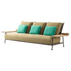 Philippe Starck 'Fenc-e-Nature' Outdoor Sofa, Steel, Teak and Fabric