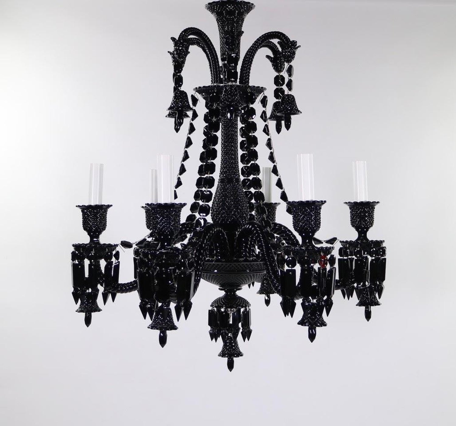 Philippe Starck For Baccarat Zenith Black Crystal Chandelier At 1stdibs