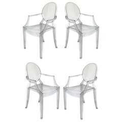 Philippe Starck for Kartell Louis Ghost Chairs, Set of Four