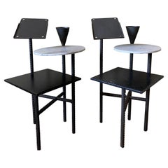 Philippe Starck Paramount Hotel Side Tables, Pair