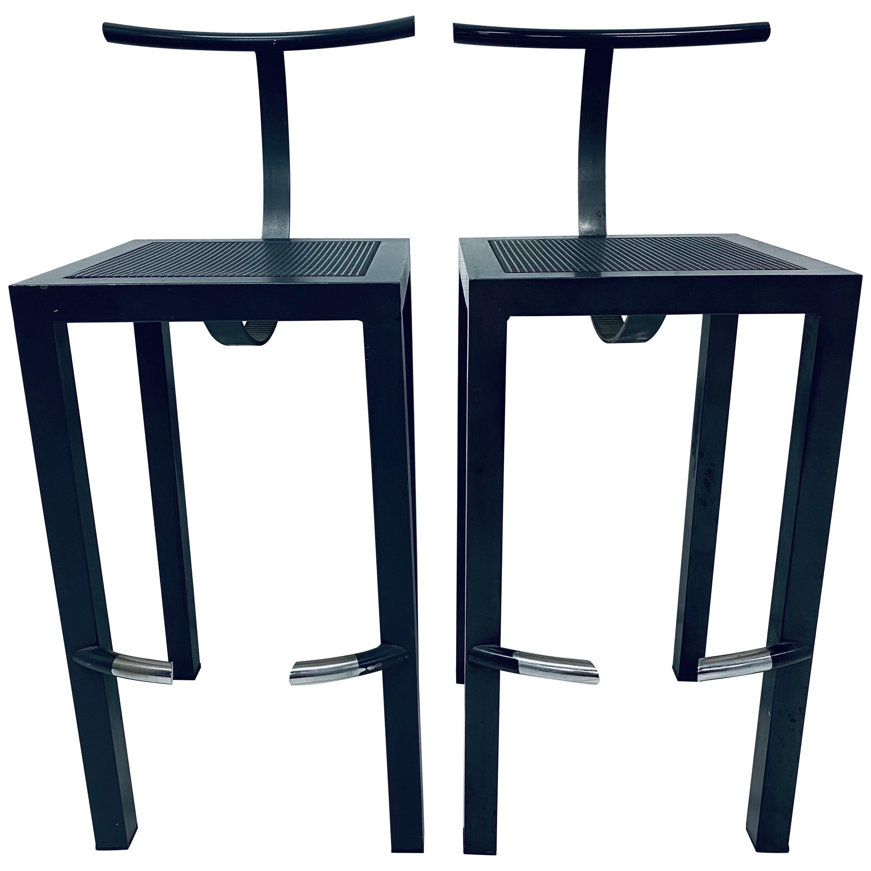 "Philippe Starck Postmodern ""Sarapis"" Bar Stools for Driade - a Pair"