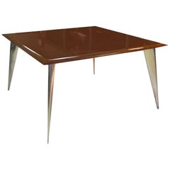Philippe Starck Square Mahogany Dining Table M 'Serie Lang' for Driade Aleph