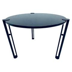 "Philippe Starck ""Joe Ship"" Postmodern Steel and Granite Dining or Center Table"