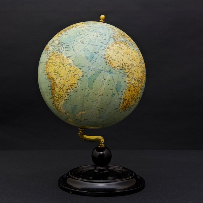 British Philips Terrestrial Globe, circa 1925 For Sale