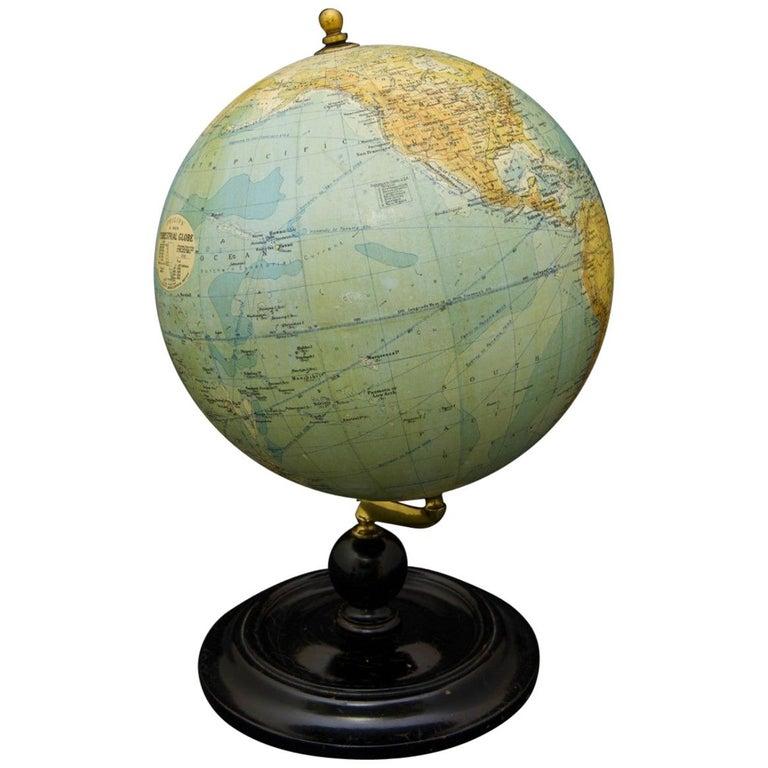 Philips Terrestrial Globe, circa 1925 For Sale