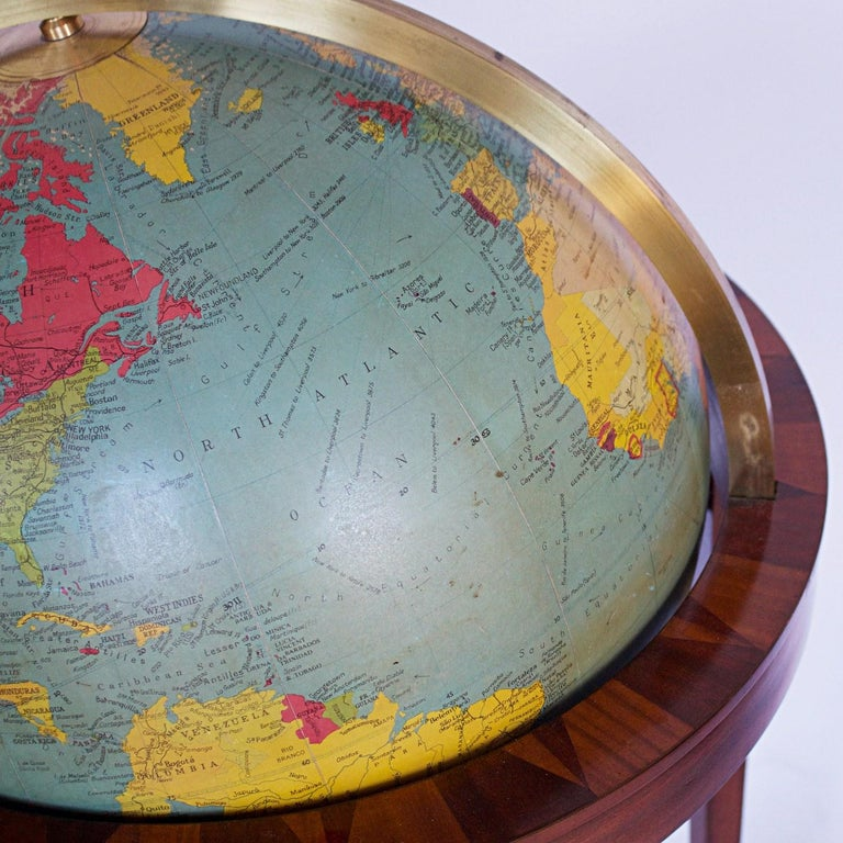 Philip's Terrestrial Globe Mahogany and Walnut Stand, circa 1982 For Sale 1