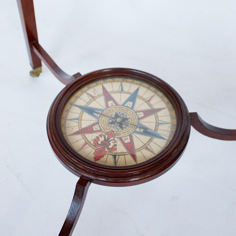 Philip's Terrestrial Globe Mahogany and Walnut Stand, circa 1982 For Sale 4