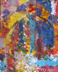 Island Oratory. Contemporary Abstract Expressionist Oil Painting