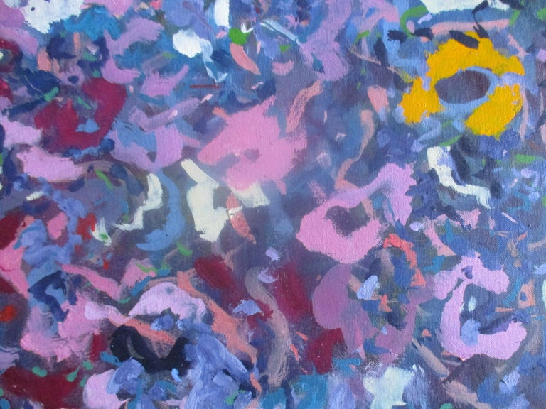 May Walk. Abstract Expressionist Oil Painting - Gray Abstract Painting by Phillip Alder