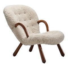 """Phillip Arctander """"Clam"""" Chair, Denmark, 1940s"""