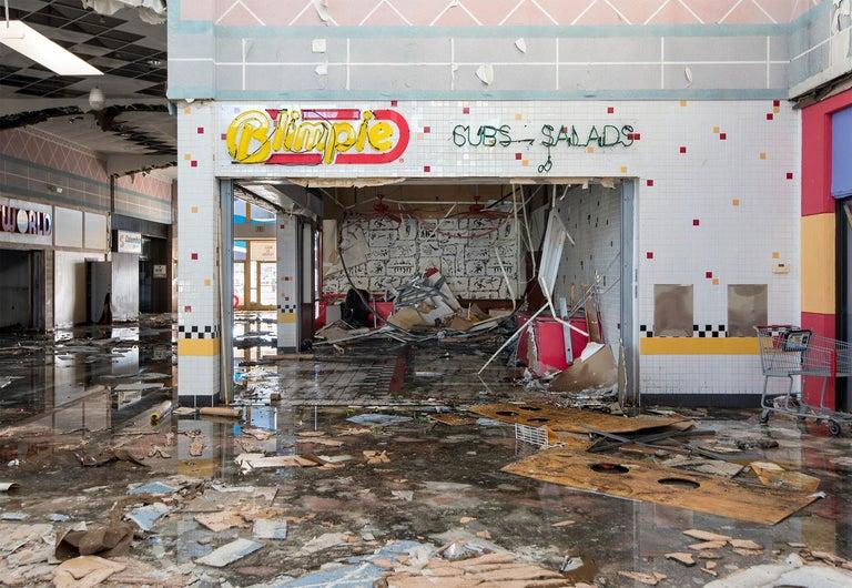 """Phillip Buehler Color Photograph - """"Blimpie"""" Wayne Hills Mall, Wayne, NJ (Modern Ruins) color photograph"""