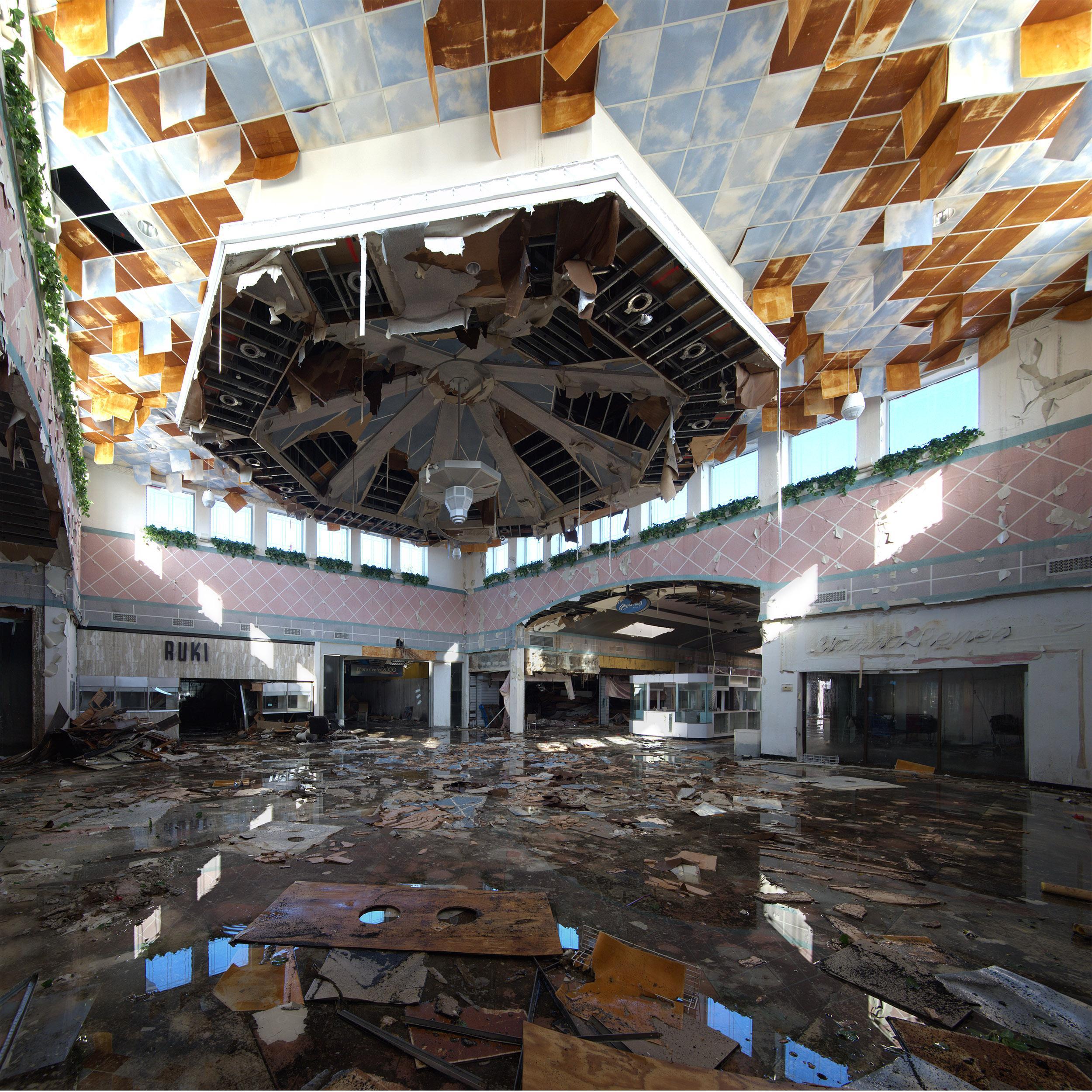 """Courtyard"" Wayne Hills Mall, New Jersey (Modern Ruins) color photograph"