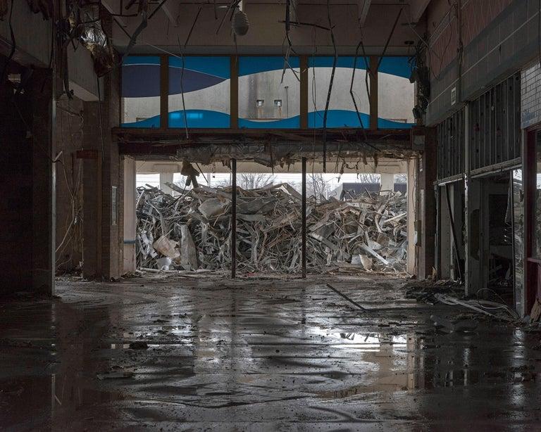 "Phillip Buehler Color Photograph - ""Main Entrance"" Wayne Hills Mall, New Jersey (Modern Ruins) color photograph"