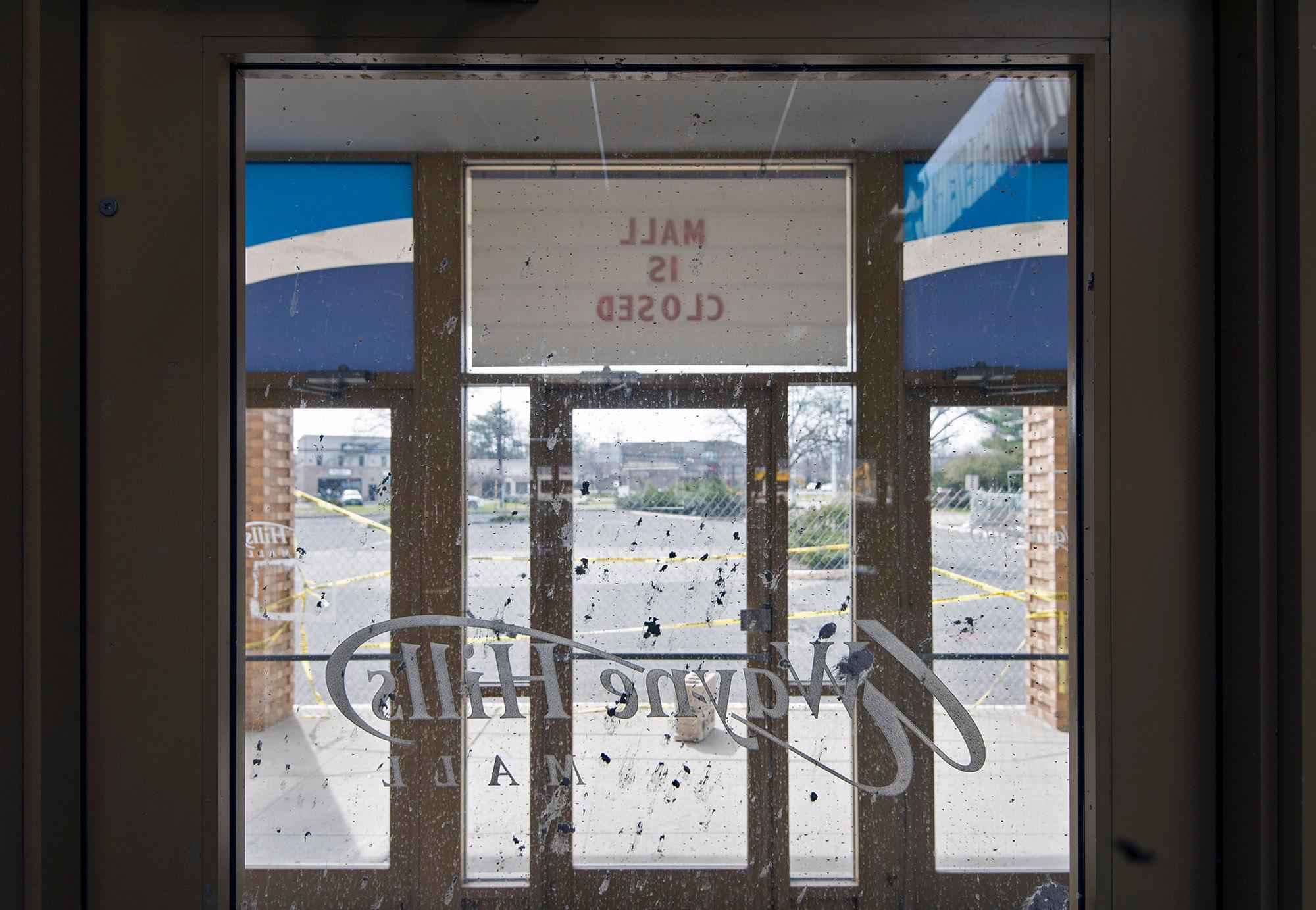 """Mall is Closed"" Wayne Hills Mall, NJ (Modern Ruins series) color photograph"
