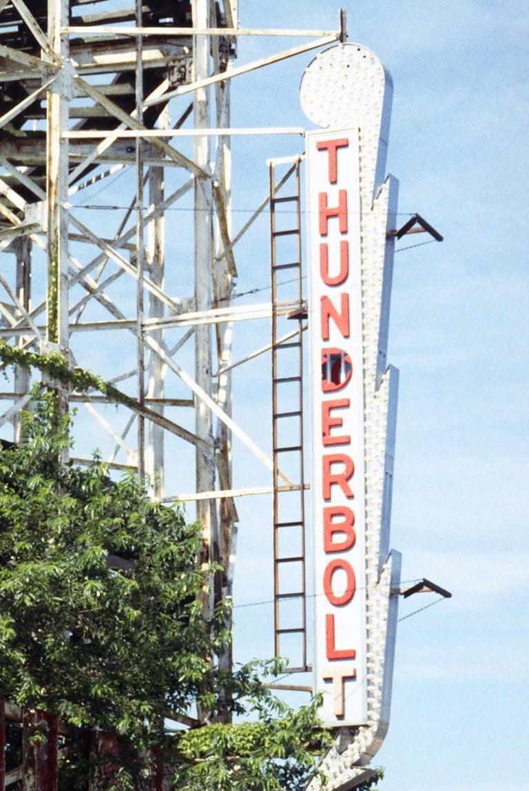 Thunderbolt Sign, Coney Island - Photograph by Phillip Buehler